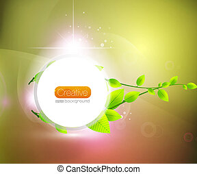 Vector shiny nature background