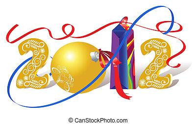 Christmas decorations and gift bag