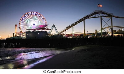 Santa Monica Pier at night - Bright lights of the carnival...