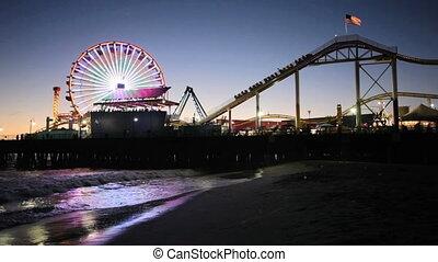 Santa Monica Pier at night - Bright lights of the carnival...