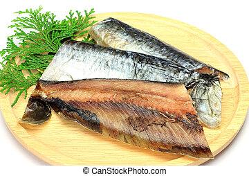 pez, arenque, secado