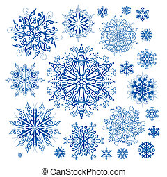 christmas snowflakes icon collectio