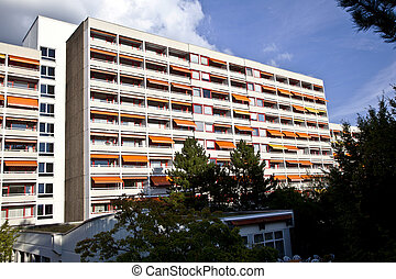 facade of home for old people - facade of modern home for...