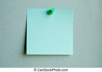 color note paper with pin