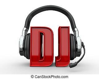 texto, dj, handphones