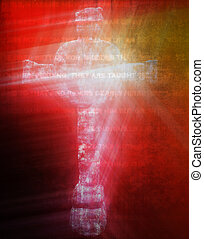 Celtic cross isolated on the background with ancient...