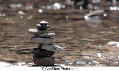 Zen Stones - Zen stones with wild water background