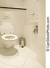 Toilet room in white colour design