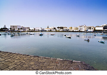 laguna at the city of Arrecife - Charco de San Gines, the...