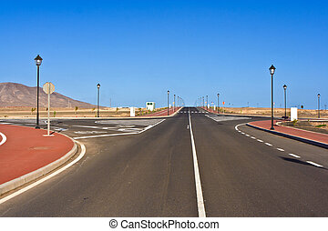 new roads for a development area - new roads for the...