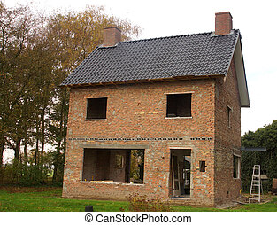 House - Brick skelleton of a house