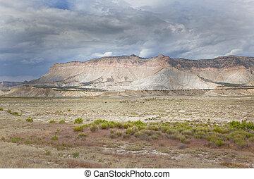 Wasatch Plateau near Ferron, U - Wasatch plateau seen from...