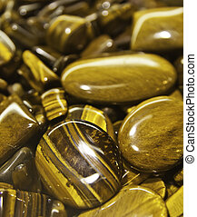 Tiger eyes - Tiger's eye (also called Tigers eye or Tiger...
