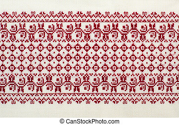 embroidered good by cross-stitch pattern ukrainian ethnic...