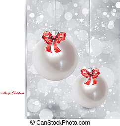 Pearl Christmas Ornament Vector illustration - Christmas...