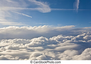 sky with clouds from above - sky with clouds seen from...