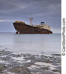 Ship abandoned