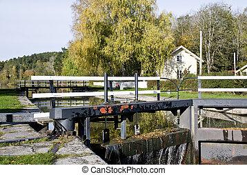 sluice in  channel  - sluice in channel sweden