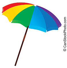 beach umbrella - vector illustration of a beach umbrella
