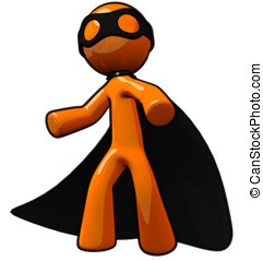 3d Orange Man Thief, or Super Villain - Orange man thief or...
