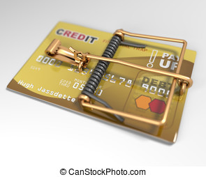 Credit Card Mouse Trap (Credit Trap) Concept DOF - Credit...