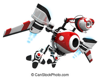 Spy Bot or Webcrawler Flying to Next Inspection - Webcrawler...