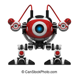 Scutter Webcrawler Robot Orthographic View Frontal -...