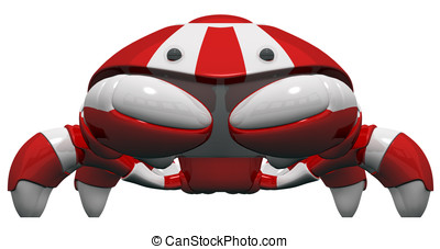 Scutter Robot Front Orthographic View
