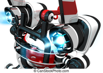 Robot Back View, Ignited Jets