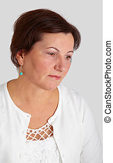 Middle aged woman portrait - Portrait of a beautiful middle...