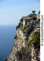 Sorrento cliffs - view of sorrento old house on a cliff