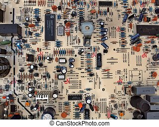 Mainboard of TV set - Radioelectronics TV main board with...