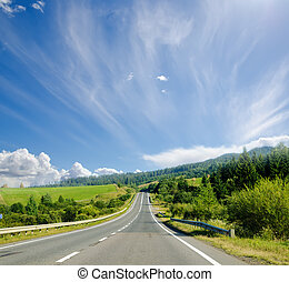 road in mountain. Ukranian Carpathians