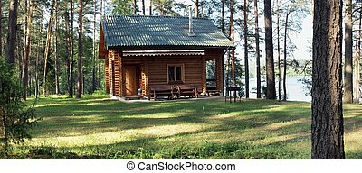 Wooden house - Lake, forest and nice summer time