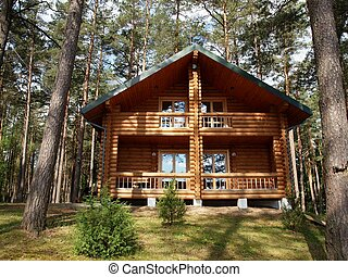 Wooden house - Silence in the house Nature ih the life