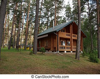 House in the forest - Silence in the house Nature ih the...