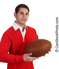 guy with rugby shirt
