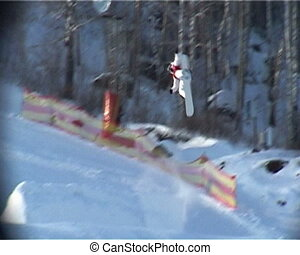 Snowboard jump rotation