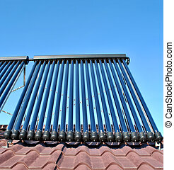 Solar system - heat pipes on the roof