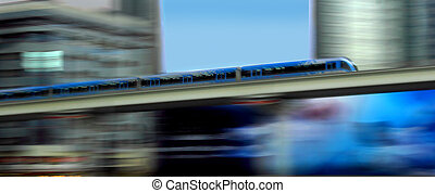 metro in motion - new metro motion in dubai passing office...