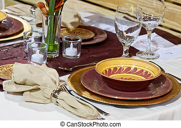 Place Settings - Place settings for a formal dinner party