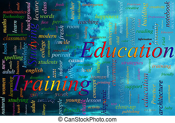 Word cloud concept illustration of Education Training