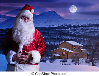Portrait of Santa Claus at the North Pole - Magical portrait...