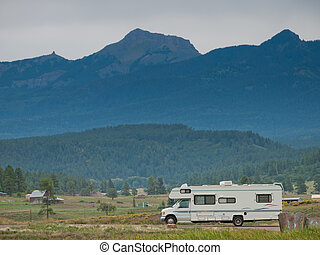 Motor Home - Camping at Echo Canyon Reservoir, Colorado