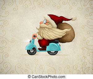 Motorized Santa Claus - Motorized santa Claus delivery the...