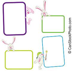 Label frame rabbit - Set of frame with rabbit