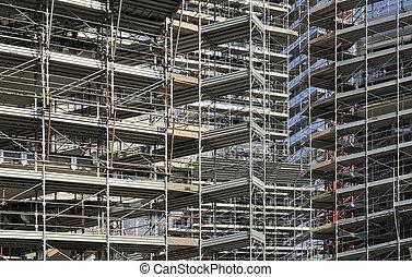 scaffolding rhapsody #1 - foreshortening of a swarm of...