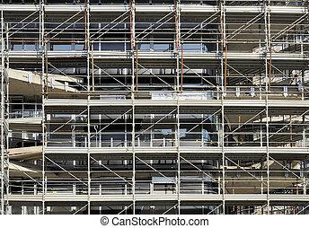 scaffolding rhapsody #2 - foreshortening of a swarm of...