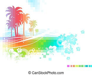 Abstract vector summer