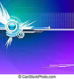 Futuristic vector background